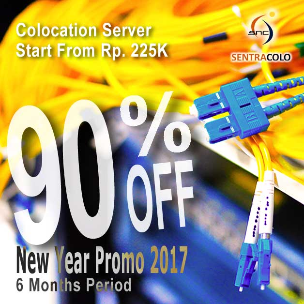 Colocation Promo Murah Dedicated Server Rack VPS Diskon Big Sale tahun baru 2017 Discount 90%